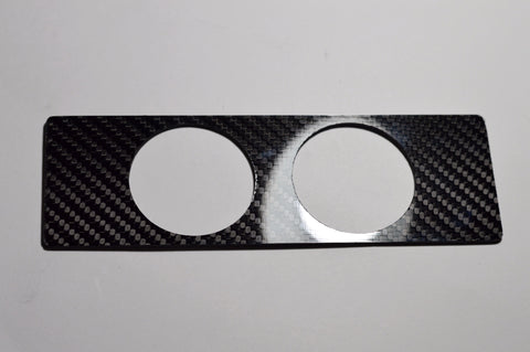 SINGLE DIN 52mm SOLID CARBON FIBER DOUBLE RADIO GAUGE IN DASH PANEL POD