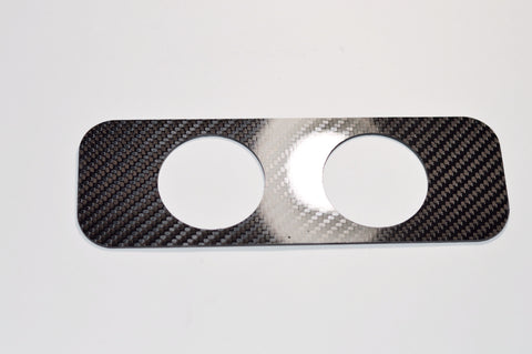 Carbon Fiber 52mm DOUBLE 2 Pod Dash Vent Gauge Holder for S13 240SX 200SX 180SX