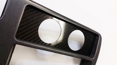 CARBON FIBER 2 52MM Climate Control Block Off Plate for fit Honda EG Civic 92-95