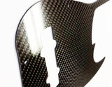 CARBON FIBER Replacement Guitar Pickguard For Fender Jazz Bass 5 String JB