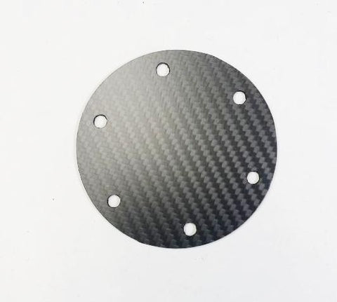 CARBON FIBER ROUND Matte Steering Wheel Horn Button Cover Plate NO Button