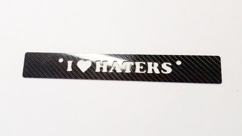 CARBON FIBER I LOVE HATERS LICENSE PLATE delete for Honda Civic fits EG 92-95
