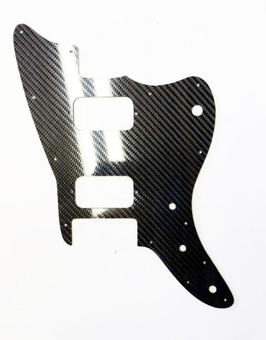 REAL * CARBON FIBER * pickguard for Squier Affinity Jazzmaster HH MADE IN USA