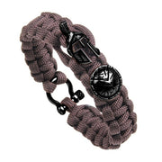 New Fashion Outdoor Survival Bracelet Men Braided Multi-function Camping Rescue Emergency Spartan Helmet Rope Bangles Preferred