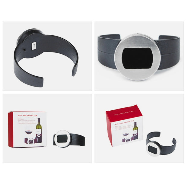 Stainless Steel Wine Bracelet Thermometer 4--26 Degree Centigrade Red Wine Temperature
