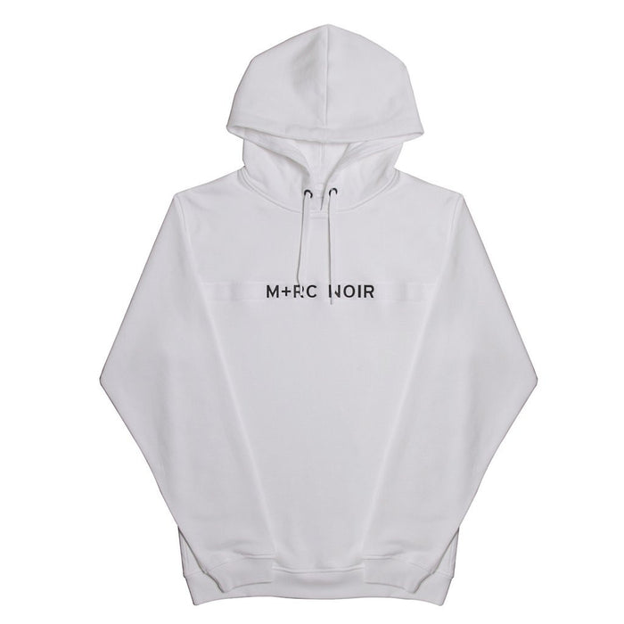 M+RC NOIR WHITE NEW VELCRO HOODIE-M+RC Noir-CuratedLS