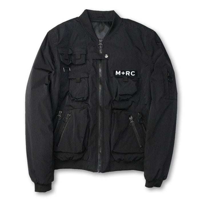 M+RC Noir Multipocket Bomber In Black-M+RC Noir-CuratedLS