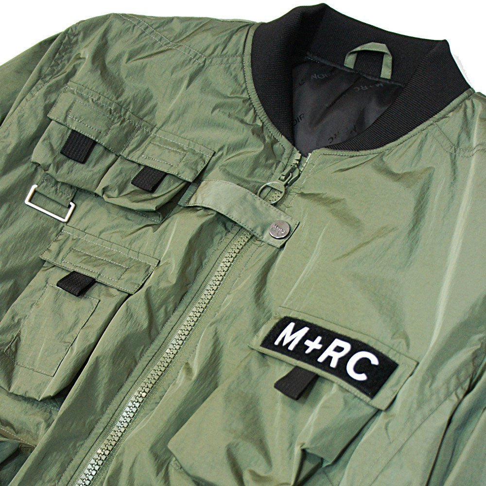 M+RC Noir Multipocket Bomber in Green-M+RC Noir-CuratedLS