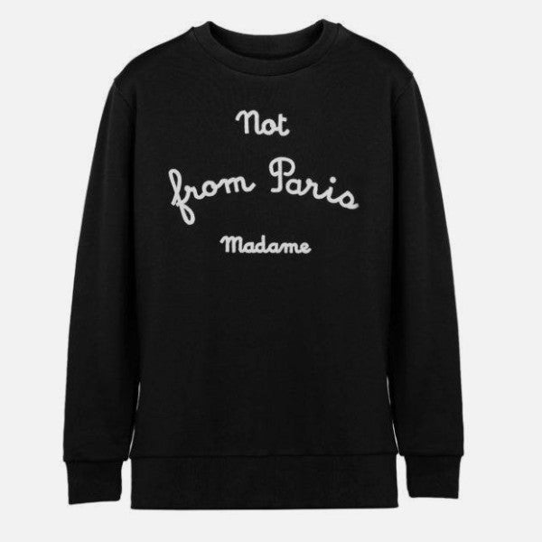 NFPM Sweatshirt - Black-DRÔLE DE MONSIEUR-CuratedLS