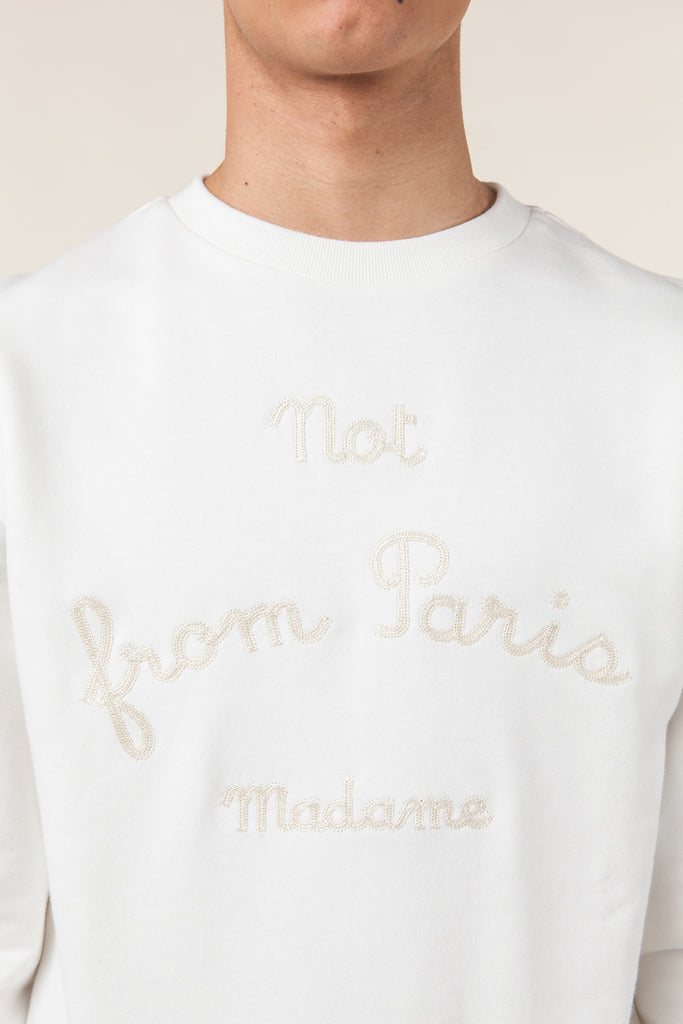 NFPM Sweatshirt - White-DRÔLE DE MONSIEUR-CuratedLS