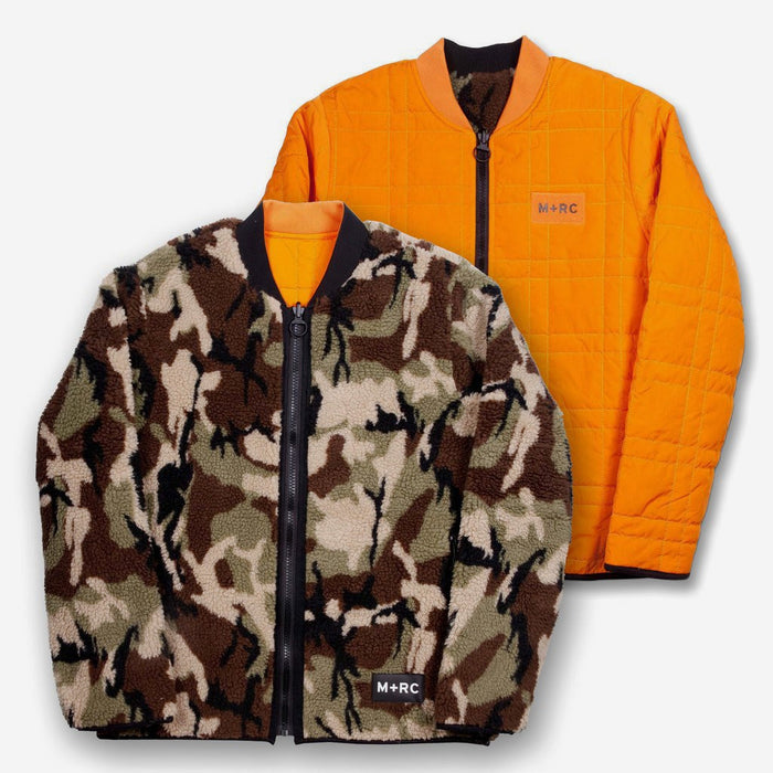 """PRAY FOR THE OPPS"" JUNGLE / CAMO REVERSIBLE JACKET-M+RC Noir-CuratedLS"