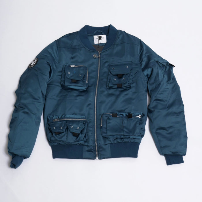 Turquoise Tiel Bomber Jacket-Daily Paper-CuratedLS