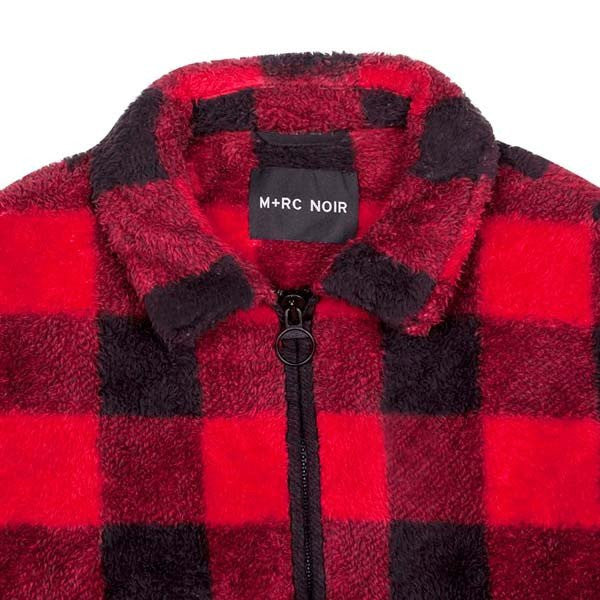 UNTITLED RED FLANNEL STYLE SOFT FLEECE JACKET-M+RC Noir-CuratedLS