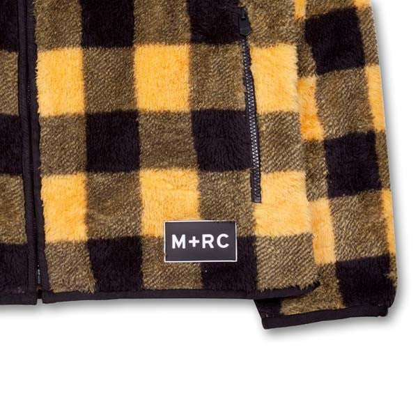 UNTITLED YELLOW FLANNEL STYLE SOFT FLEECE JACKET-M+RC Noir-CuratedLS