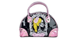 Dead Girl Cameo Pink/Black Handbag