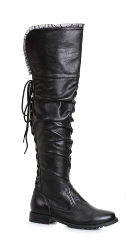 "Tyra Over The Knee Pirate Boot 1"" Heel"