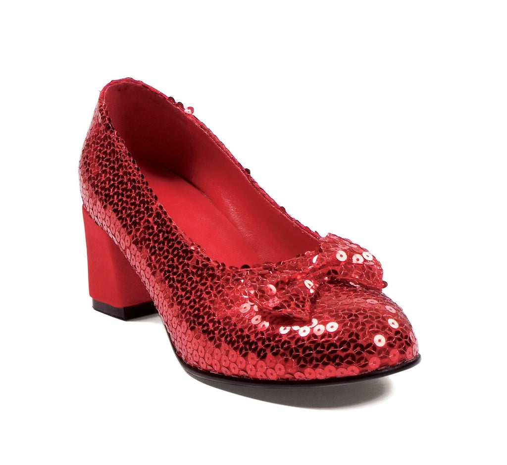 "Judy Red Sequined Shoe 2"" Heel"