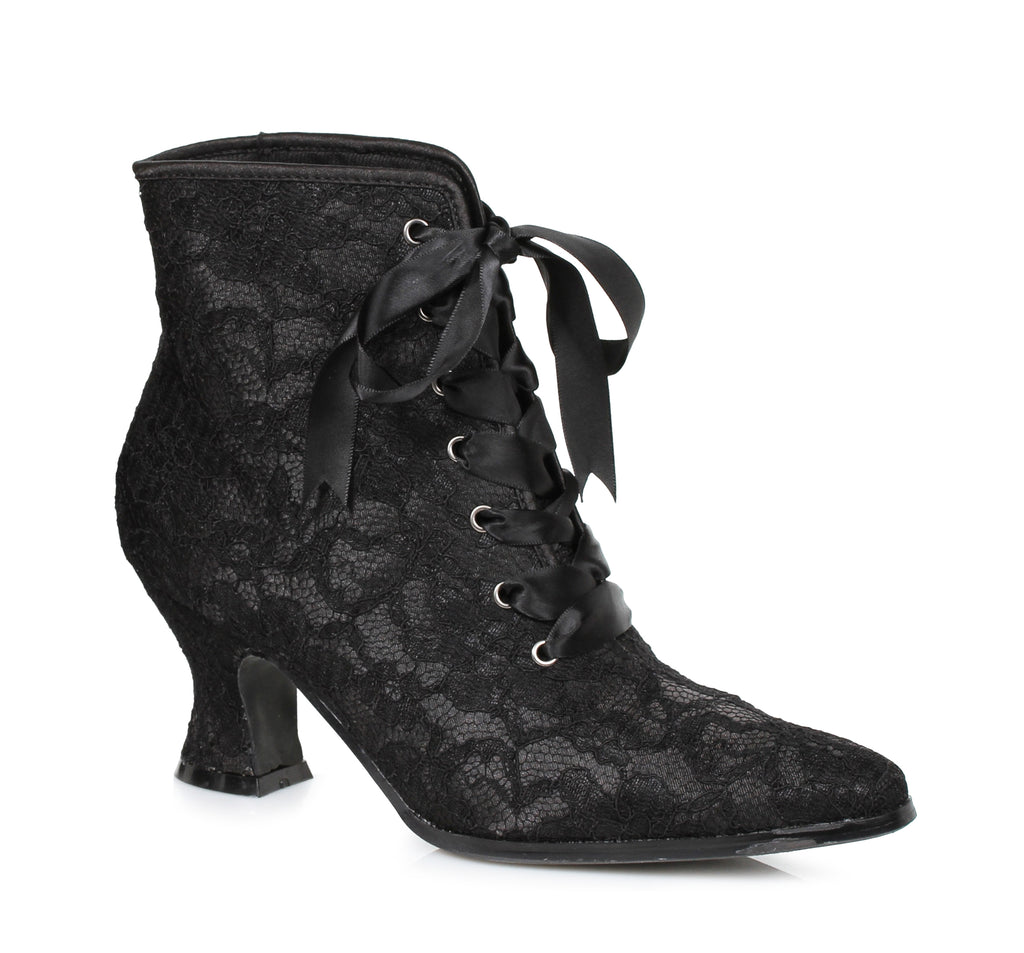 "Elizabeth Victorian Boot with Lace 2.5"" Heel"