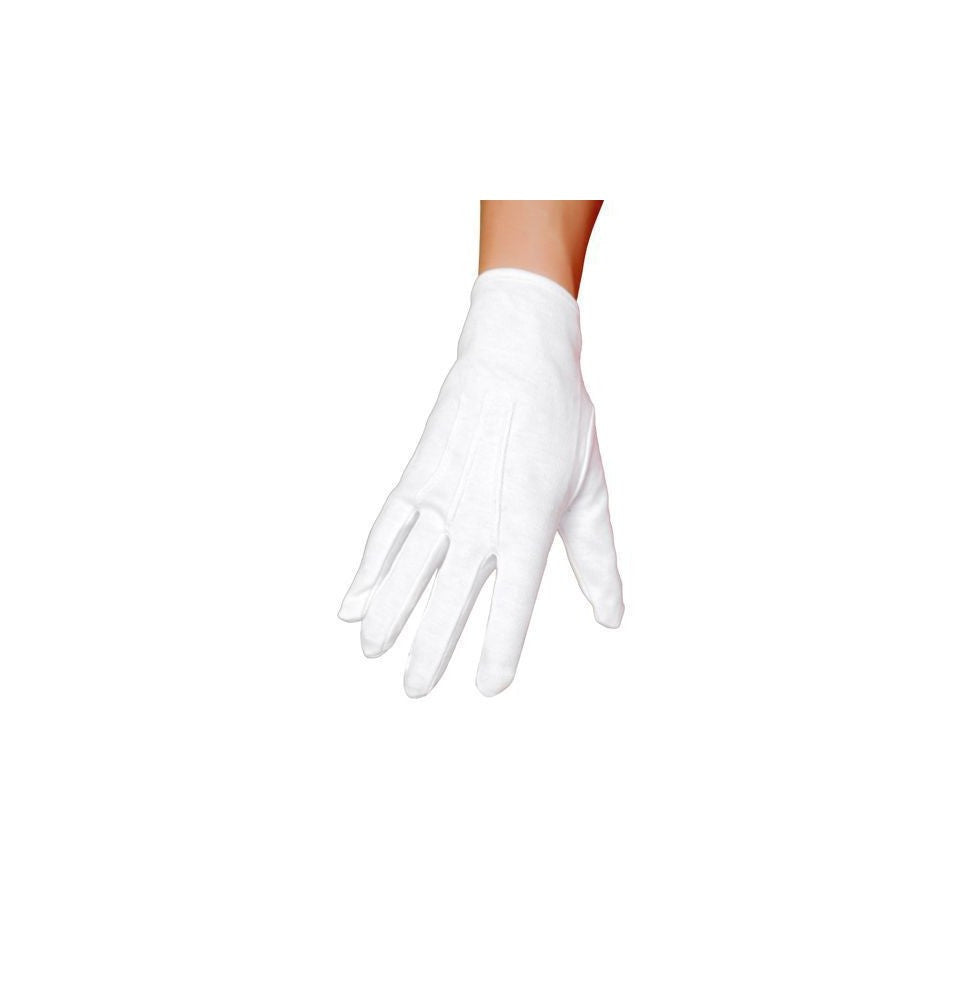 GL102 White Gloves - Roma Costume Accessories
