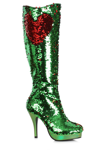 "Gillian Mermaid Flips Sequin Boot 4"" Heel"