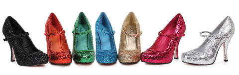 "Candy Glitter Mary Jane With 1""Concealed Platform 4"" Heel"