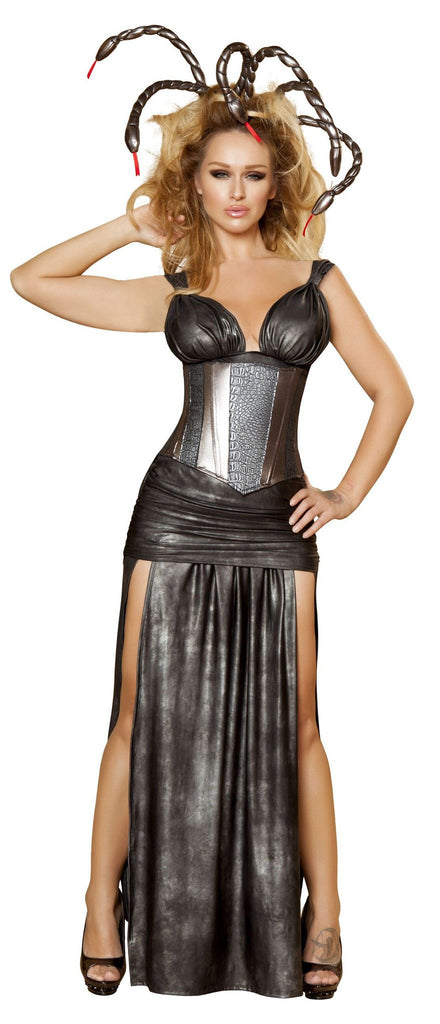 Sexy Medusa 4pc Costume with Waist Cincher