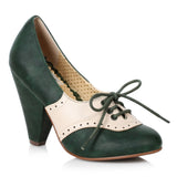 "Carole Saddle Shoe With Bow 4"" Heel"