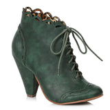 "Eddie Retro Bootie With Laces 4"" Heel"