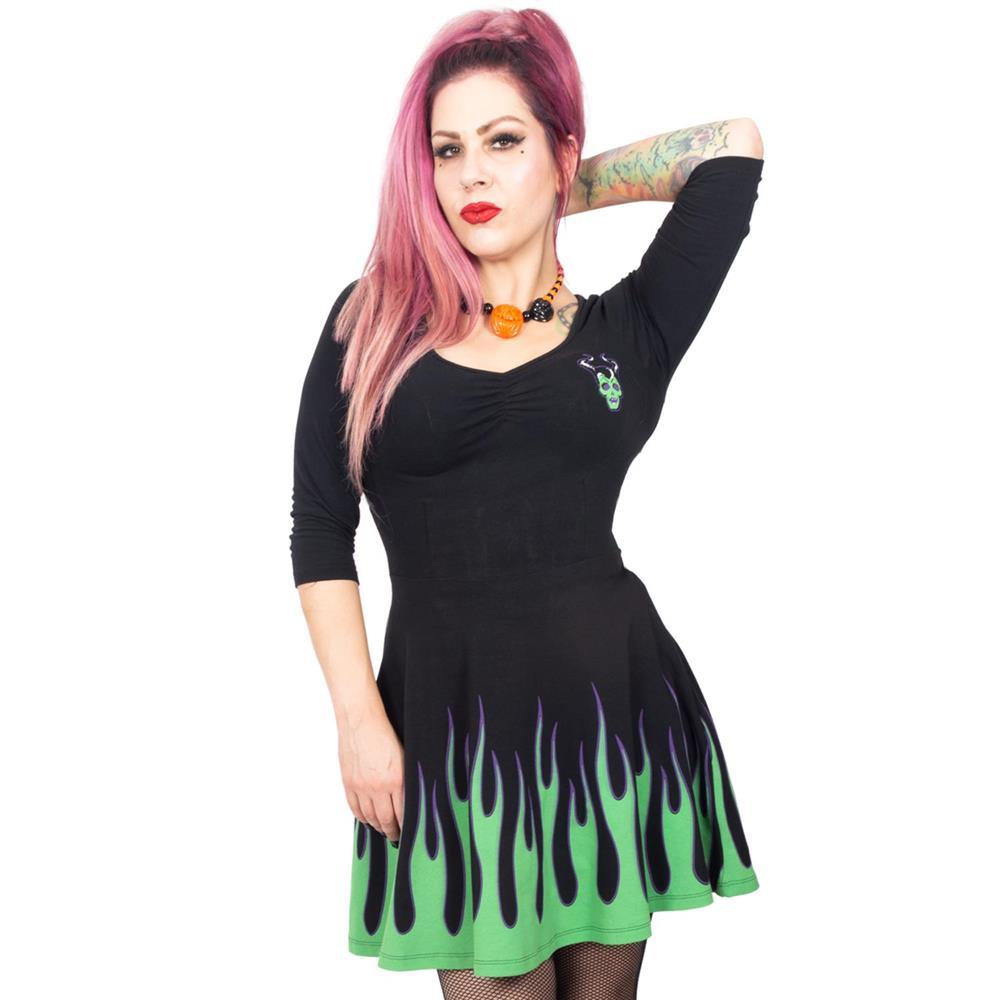 Villain Flame Skater Dress