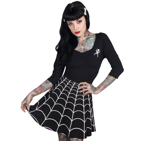 Spider Web Skater Dress
