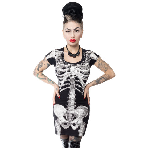 White Skeleton Tunic Dress
