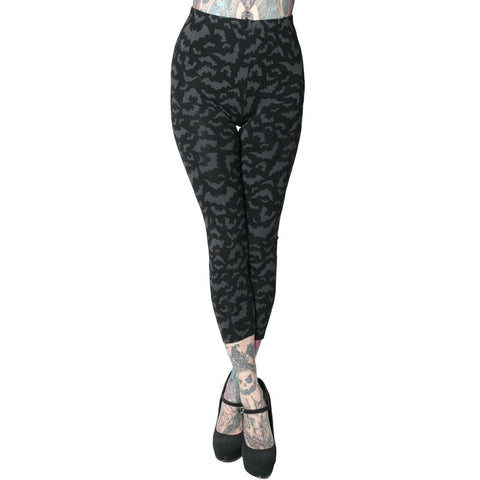 Bat Repeat Capri Leggings