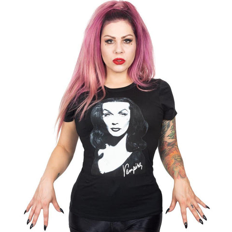 Vampira Portrait Womens T-Shirt