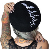 Bat Repeat White Beret Hat