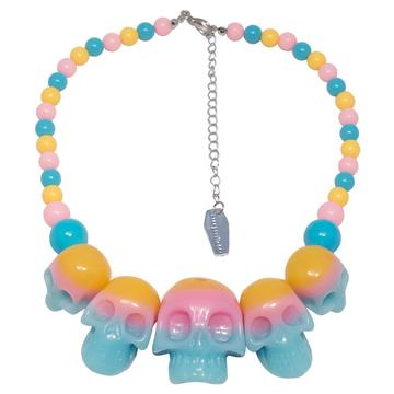 Skull Collection Necklace Rainbow