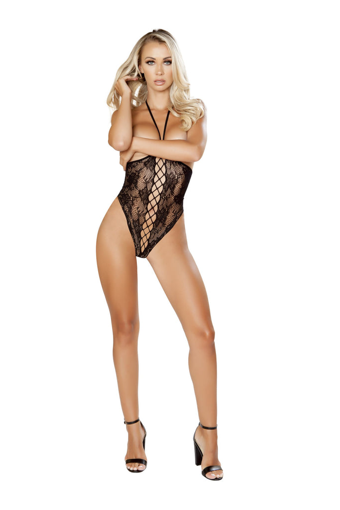 Lace-Up Topless Teddy Bodystocking