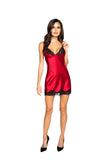 Soft Satin Chemise with Lace Detail