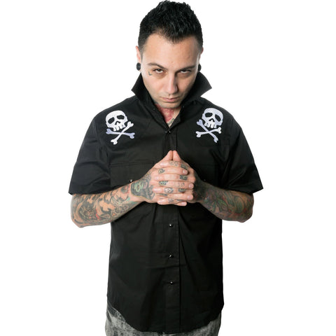 Harlock Skull and Cross Bones Western Shirt