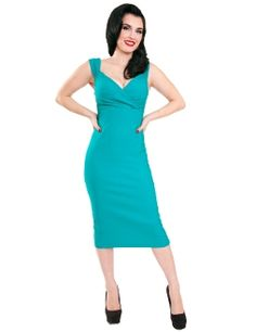 Steady Diva Pencil Dress Sea Green