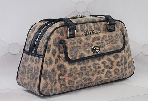 Galaxy Brown Leopard Handbag