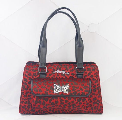 Cosmo Red Leopard Handbag