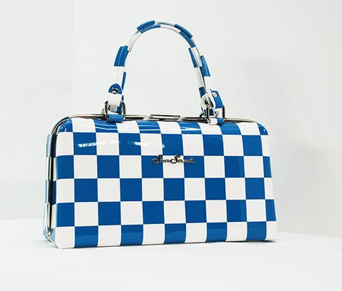 Jetson Blue/White Checkerboard