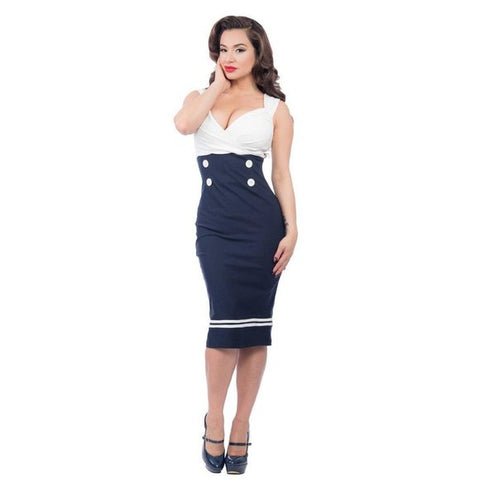 Set Sail Diva Dress Navy/White