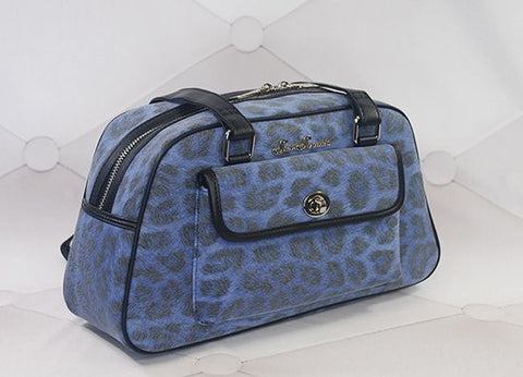 Galaxy Blue Leopard Handbag