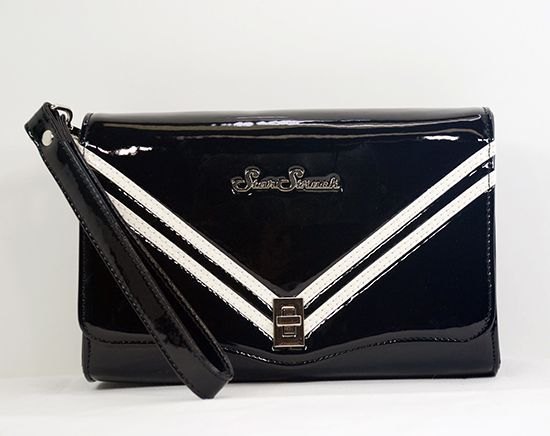 Rocket Black Clutch Black/White Wristlet