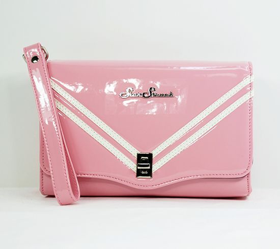 Rocket Clutch Pink/White Wristlet