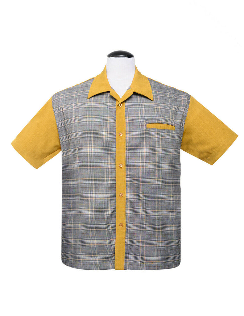 Bad News Felix Mustard Retro Bowling Shirt
