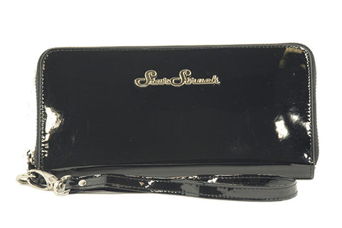 Shiny Black Wallet/Wristlet