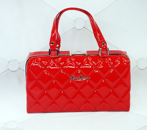 Jetson Shiny Red Handbag
