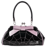 Spiderweb Floozy Purse Black/Pink